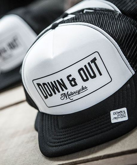 """Picture of Down & Out """"Boxed"""" Label Cap"""