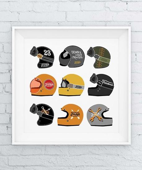 Picture of Down & Out 'Helmets' Print