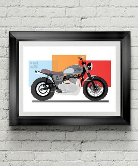 Picture of Down & Out 'Scrambler 23'  Print