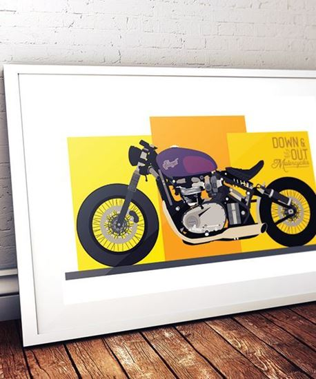 Picture of Down & Out 'Hang on, Go Fast' Print