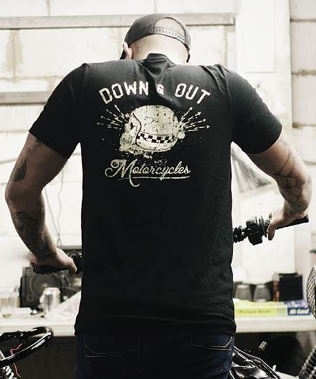 """Picture of Down & Out """"Skull"""" T-Shirt"""