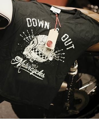 "Picture of Down & Out Women's ""Skull"" T-shirt"